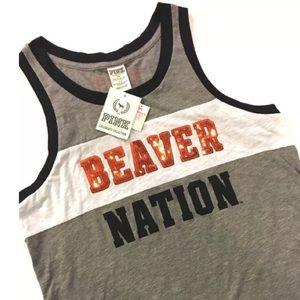 NWT OREGON OSU Tank Top Beaver Nation Bling  Large